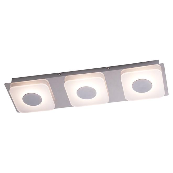 """Luminaire encastré à 3 lumières DEL, 18,89"""", chrome et blanc"""