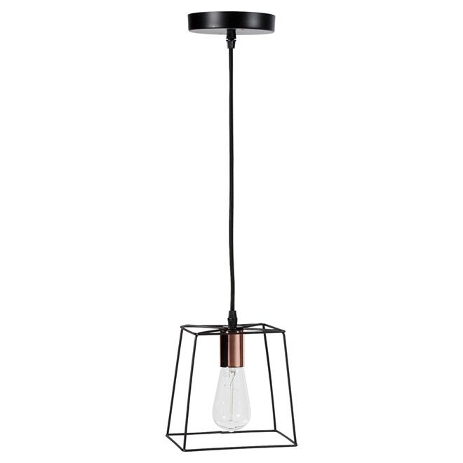 Suspension ajustable à 1 lumière « Coppertech », 7 po