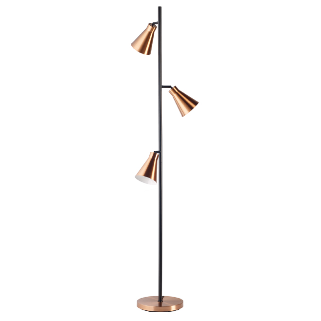 Lumirama Floor Lamp - Bishop - Copper/Black - 40 W