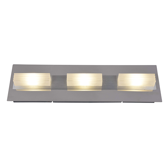 Wall Sconce - 3 Lights - LED - Chrome and Aluminum