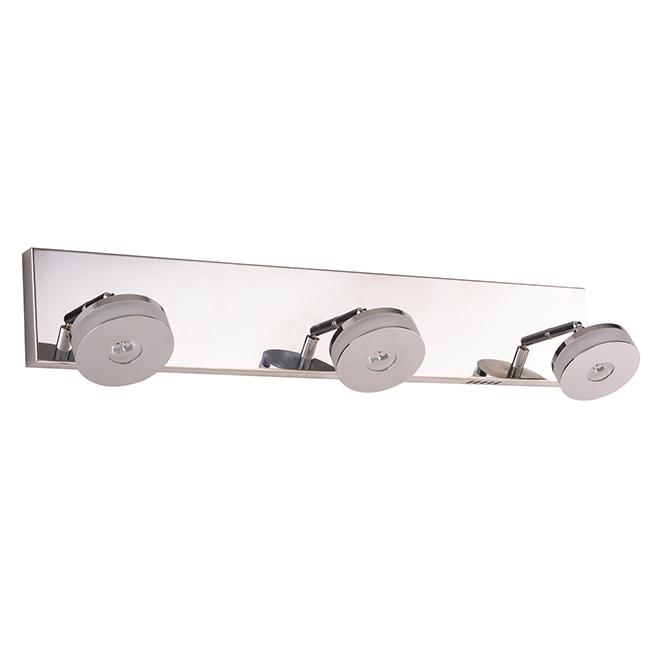 Luminaire sur rail «Discodella» à 3 lumières DEL, chrome