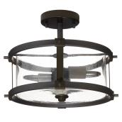 Lumirama Trattoria - Semi-Flush-Mount - 2-Light - Black