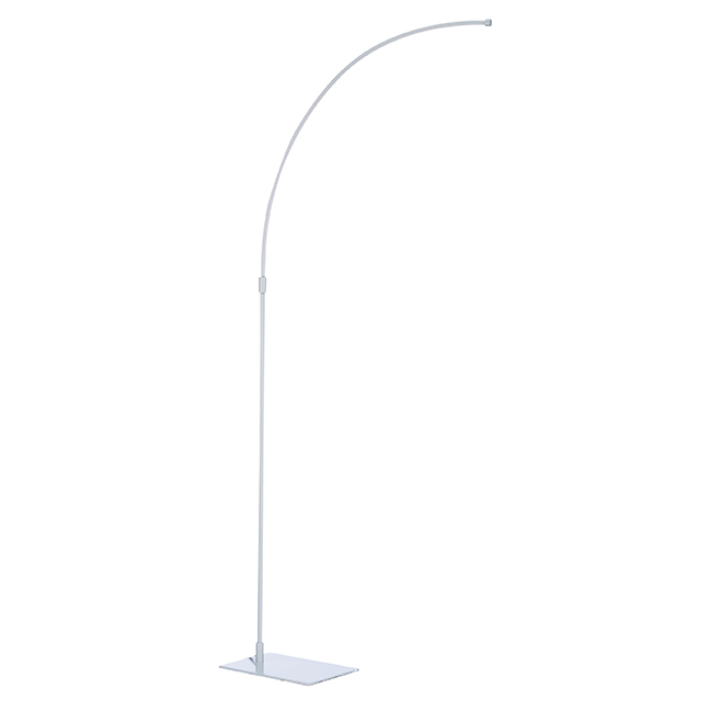 LED Floor Lamp - 120 cm - 14 W - Satin Nickel