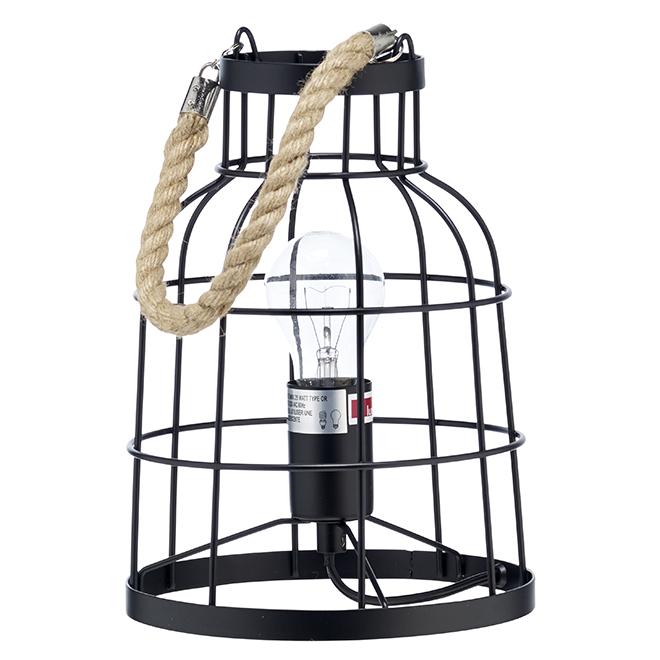Pier Table Lamp - CFL or LED Bulbs - 60W - Black