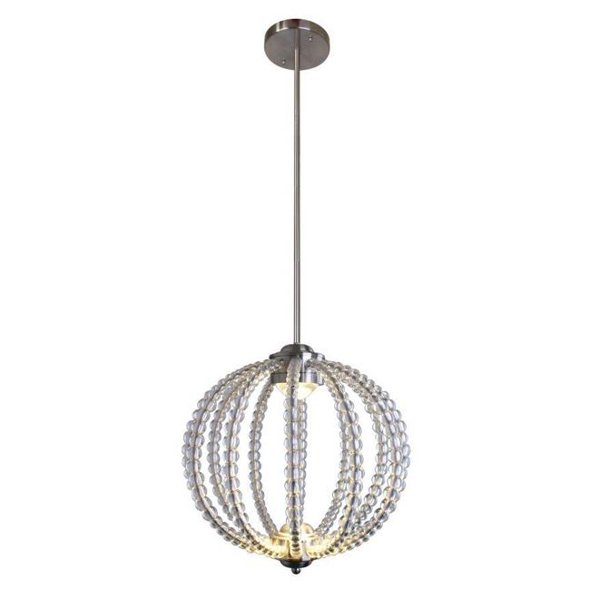Luminaire suspendu 2 lumières «Delphina», 12 W, nickel satiné