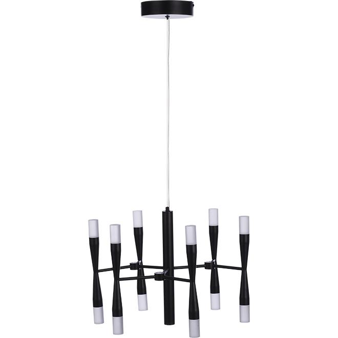 Luminaire suspendu «Candelli» à 12 lumières, DEL 25 W, noir