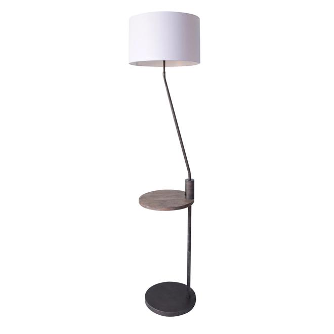"""Time Magazine"" Floor Lamp - USB Port - 60 W - Dark Brown"