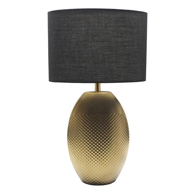 Lampe de table en céramique, 60 W, or mat