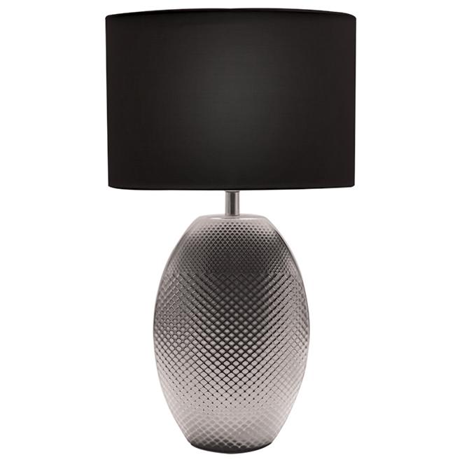 Lampe de table Lumirama « Ceragres », argent mat