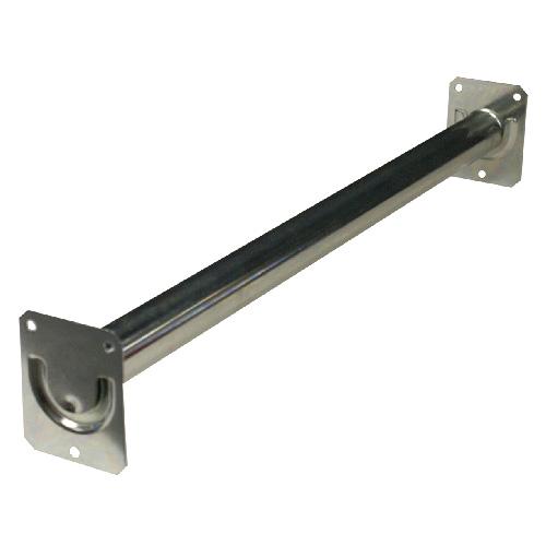 "Fluted Adjustable Closet Rod 18""-30"" - Zinc"