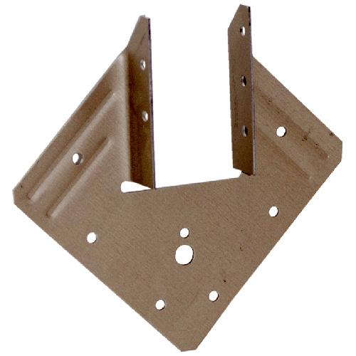 """Ancrage en acier plaqué or de 1 9/16"""" x 5 1/4"""", boîte de 5"""