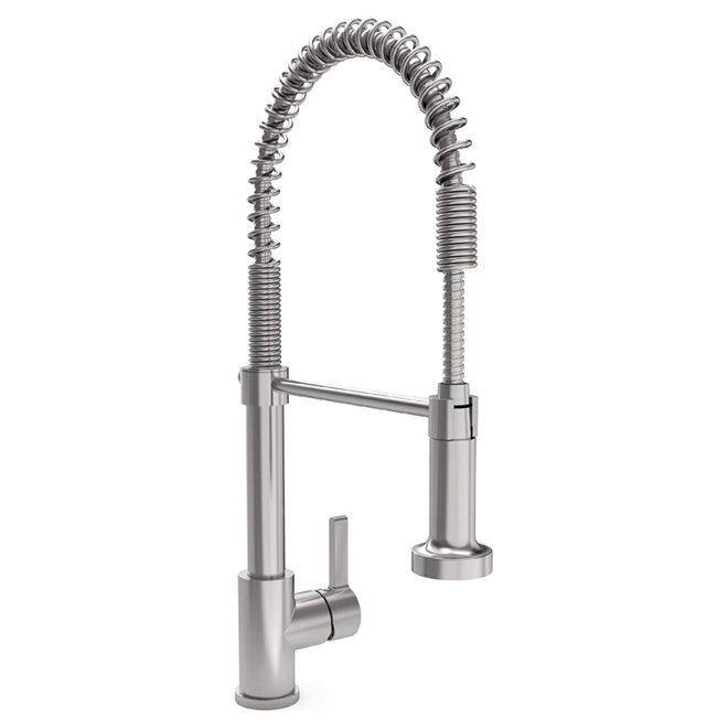 """Chef"" Kitchen Faucet - Stainless Steel"