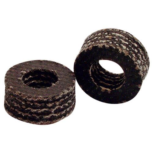 Garniture de tige Galt 10824 en caoutchouc, 2/pqt, noir