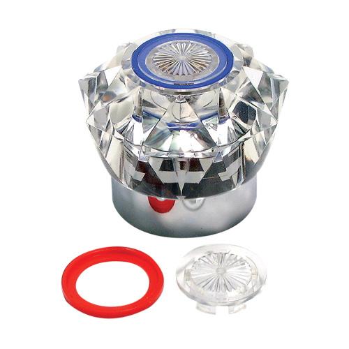Poignée de robinet Emco 2398 en plastique, transparent