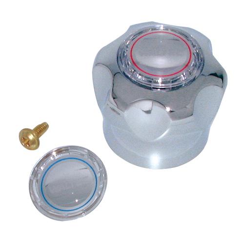 Poignée de robinet Waltec 76918 en plastique, chrome