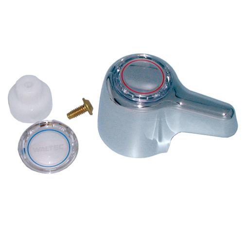 Poignée de robinet Waltec 76920 en plastique, chrome