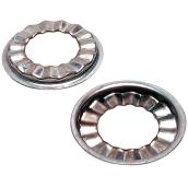 Flat Rosettes - 2/Pack - Stainless Steel