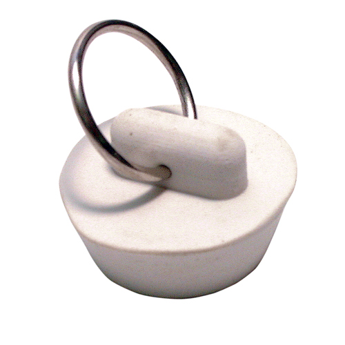 """Bouchon de lavabo, 1"""", caoutchouc blanc"""