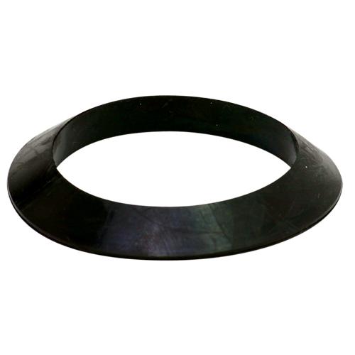 Joint biseauté pour trop-plein et vidange, noir