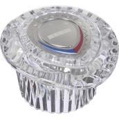 Poignée de robinet, plastique transparent