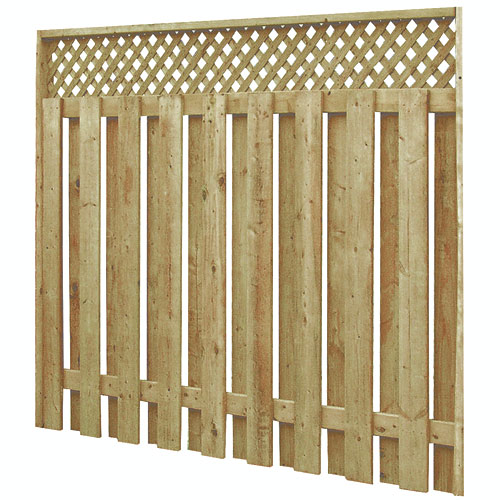 Pre assembled fence with lattice 73000692 rona for Lattice prevulcanizzato