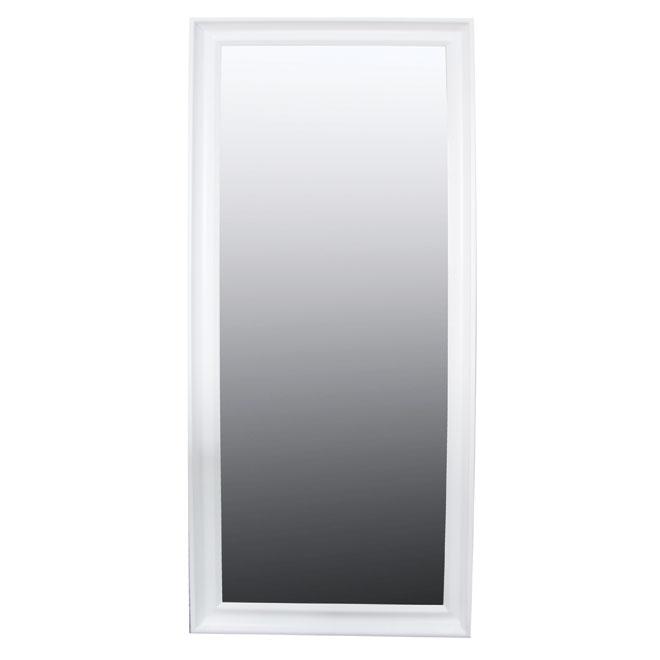 Miroir mural Uberhaus de style classique, MDF, 24 po x 36 po x 0,09 po, blanc