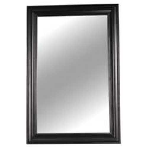 Wall Mirror - Glass and MDF - 24'' x 36'' - Black