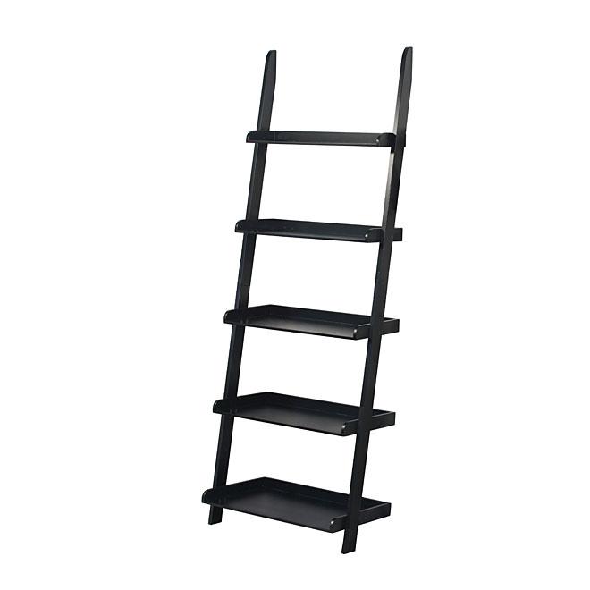 UBERHAUS DESIGN Étagère Escalier à 5 tablettes, noir FIE BKRAK02