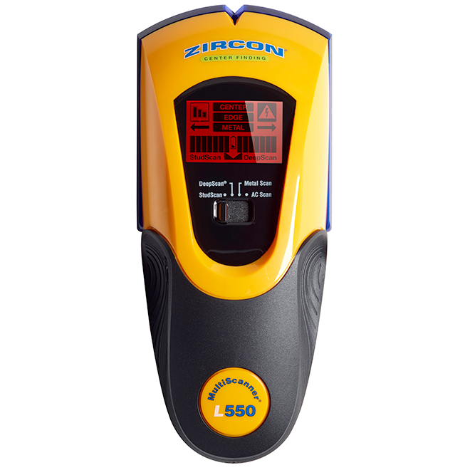 MultiScanner L550 Stud Finder - Yellow and Black