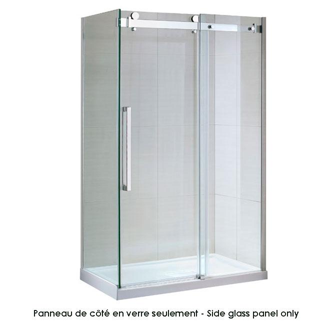 """Panneau de coté en verre trempé Ove, Sierra, 30,2"""" x 78,75"""""""