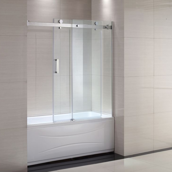 image doors glass bath ideas installation of frameless shower tub kohler bathtub door video