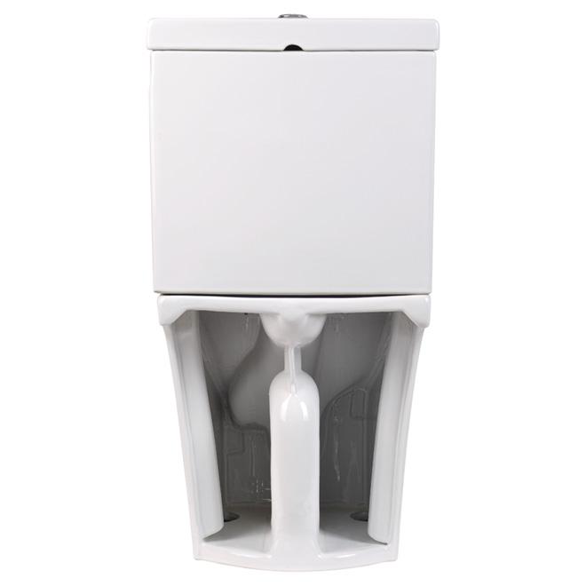Elongated Front 2-Piece Toilet, 4 L/6 L, White