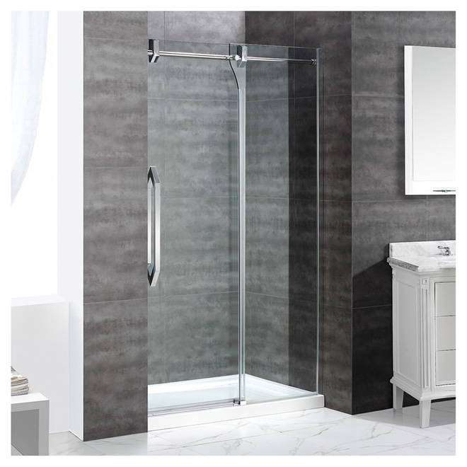 "Porte de douche coulissante Antigua, 48"", clair/chrome"