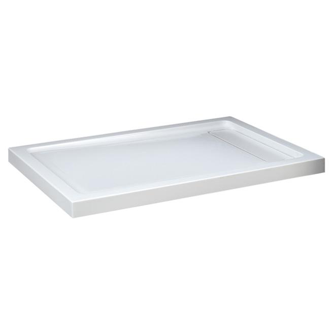 Ove Decors Shower Base - Acrylic - Hidden Drain - 48-in x 36-in - White