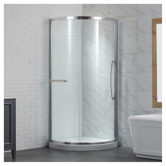 Ove Decors Karina Sliding Door Shower - Chrome - 36-in