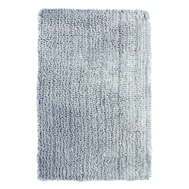"""Tapis de bain, Tango, polyester, 21"""" x 34"""", gris argenté"""