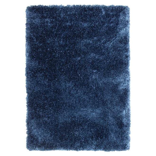 Tapis décoratif « Jazz » de 4x 5pi, bleu marine