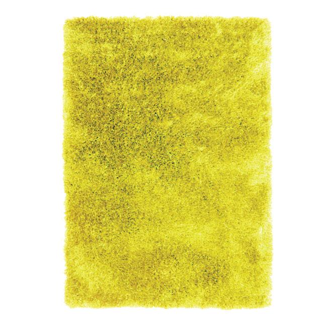 Tapis décoratif « Jazz » de 4 x 5 pi, jaune