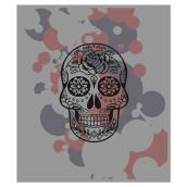 Tapis « Tête de mort », gris, 3'3