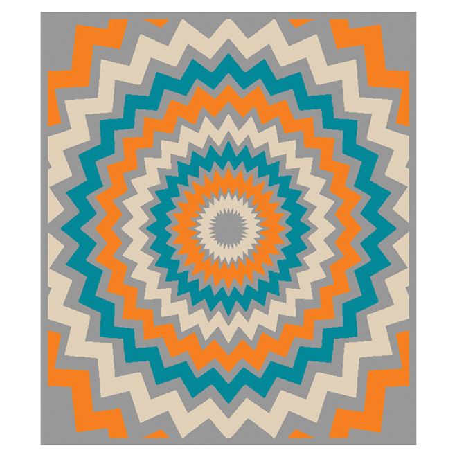 "Tapis « Pop Star », multicolore, 3'3"" x 3'9"""