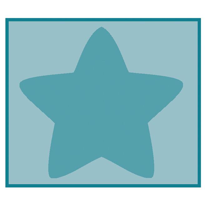 """Tapis « Étoile », bleu, 3'3"""" x 3'9"""""""
