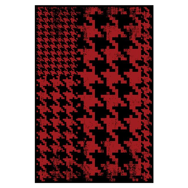 """Tapis d'appoint en nylon, 30"""" x 45"""", rouge/noir"""