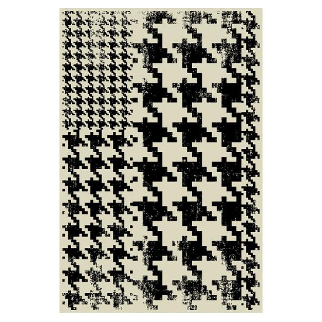 """Tapis d'appoint en nylon, 30"""" x 45"""", beige/noir"""