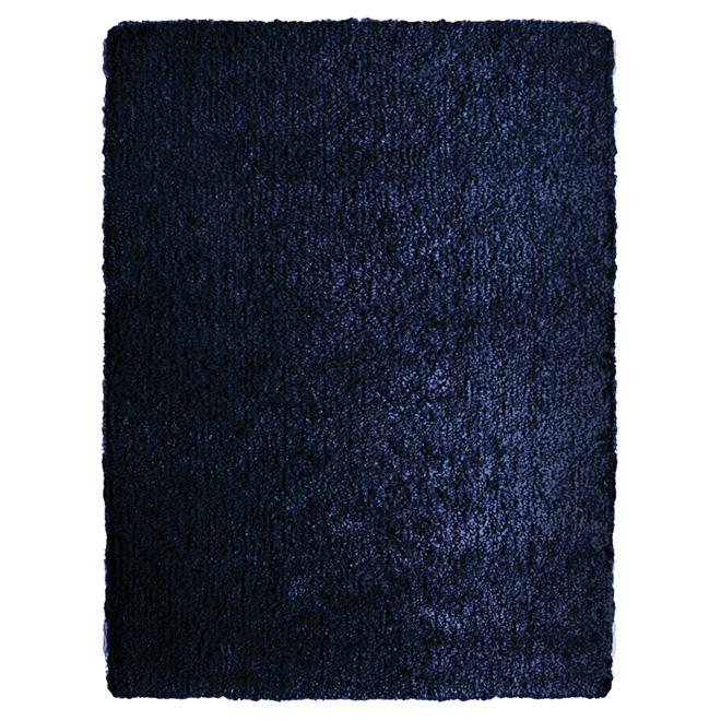 "Tapis shag « Vienne », 5'3"" x 7'5"", bleu médiéval"