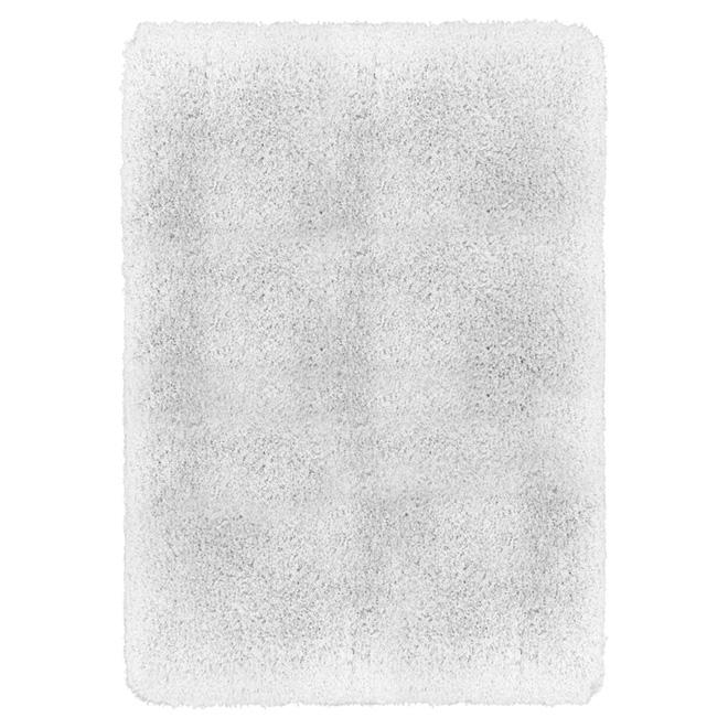 "Tapis en polyester 4' 5"" x 5' 3"", blanc"