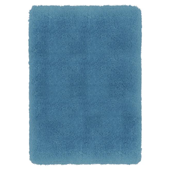"""Tapis en polyester 4' 5"""" x 5' 3"""", turquoise"""