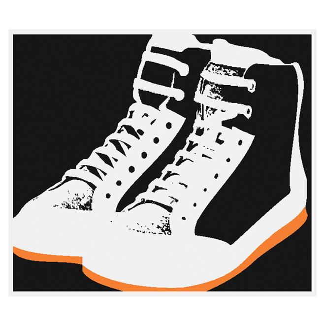 """Tapis en nylon de 3' 3"""" x 3' 9"""" « Chaussures »"""