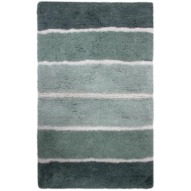 Tapis de bain « Dania », 21 po x 34 po, gris