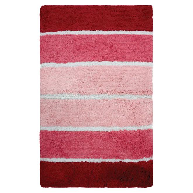 Tapis de bain « Dania », 21 po x 34 po, rouge