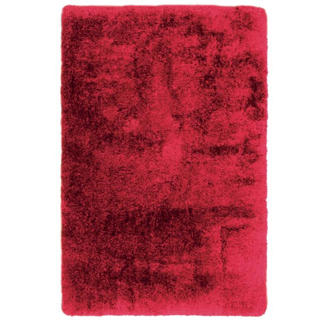 Tapis décoratif Monti, 4' x 6', rouge
